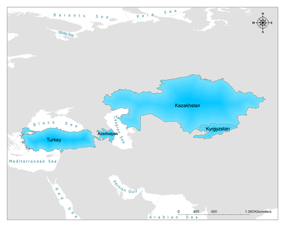 Turkic Council Map