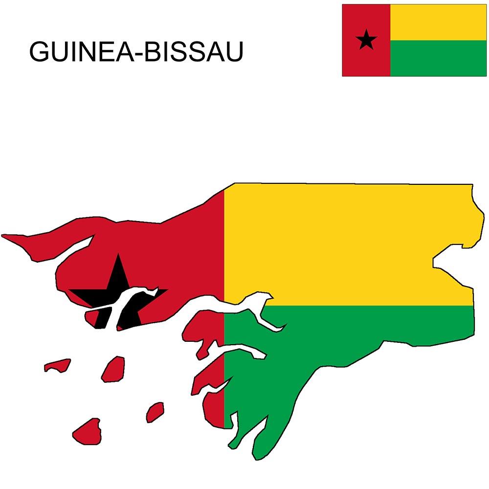 Guinea-Bissau Flag Map