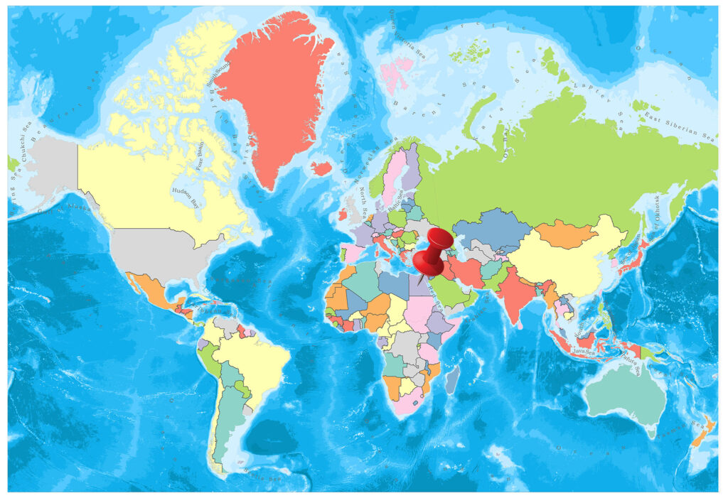 Egypt on the world map