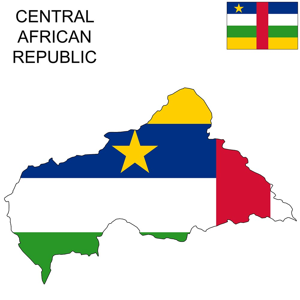 Central African Republic Flag Map and Meaning 1