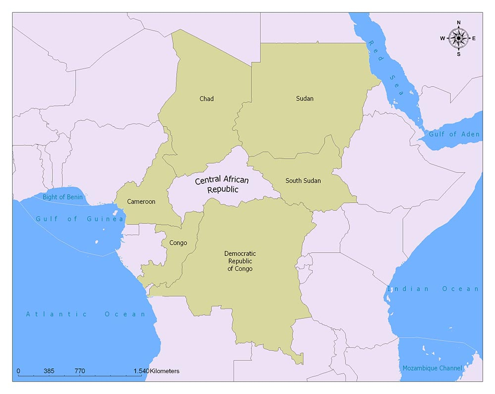 Neighboring Countries of Central African Republic
