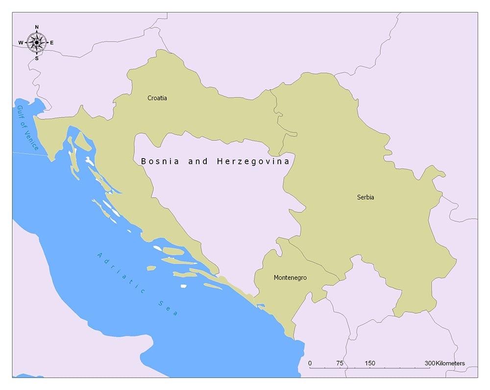 Neighboring Countries of Bosnia and Herzegovina
