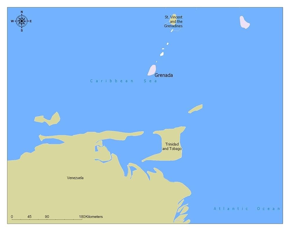 Neighboring Countries of Grenada