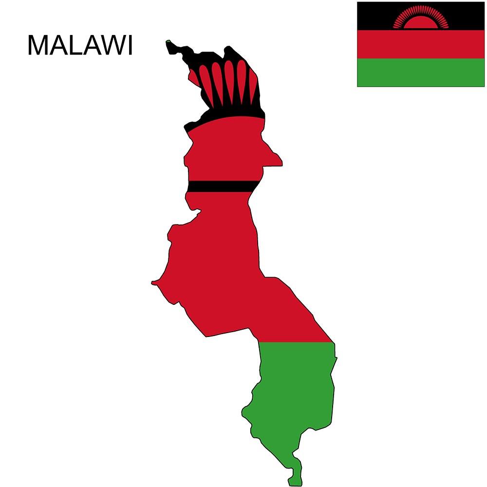 Malawi Flag Map
