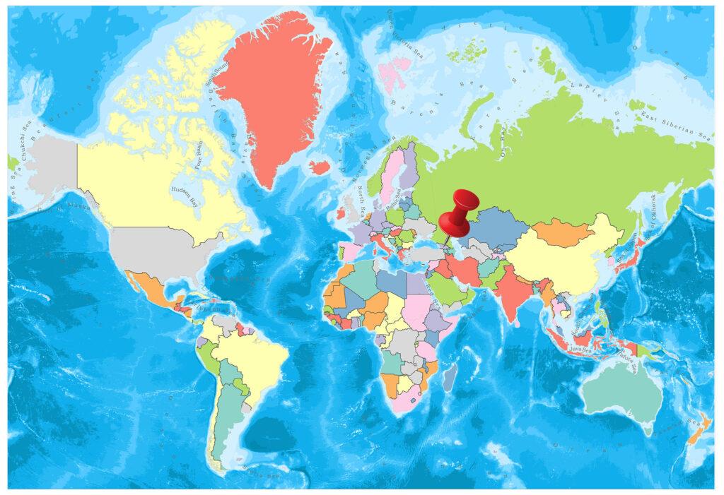Georgia on the world map