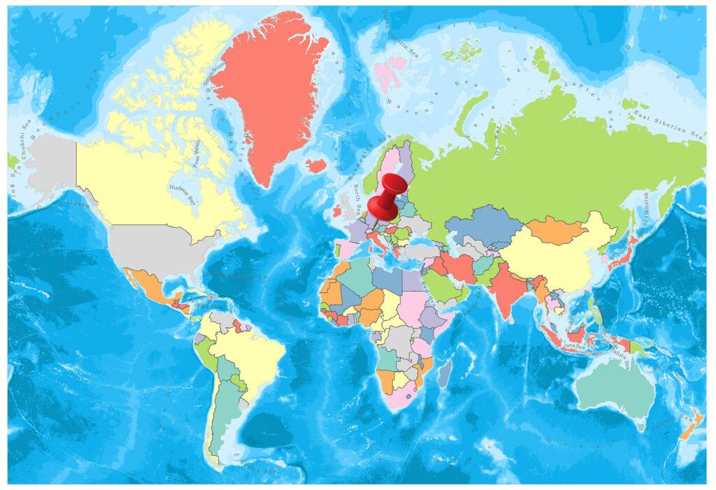 Lichtenstein on the world map