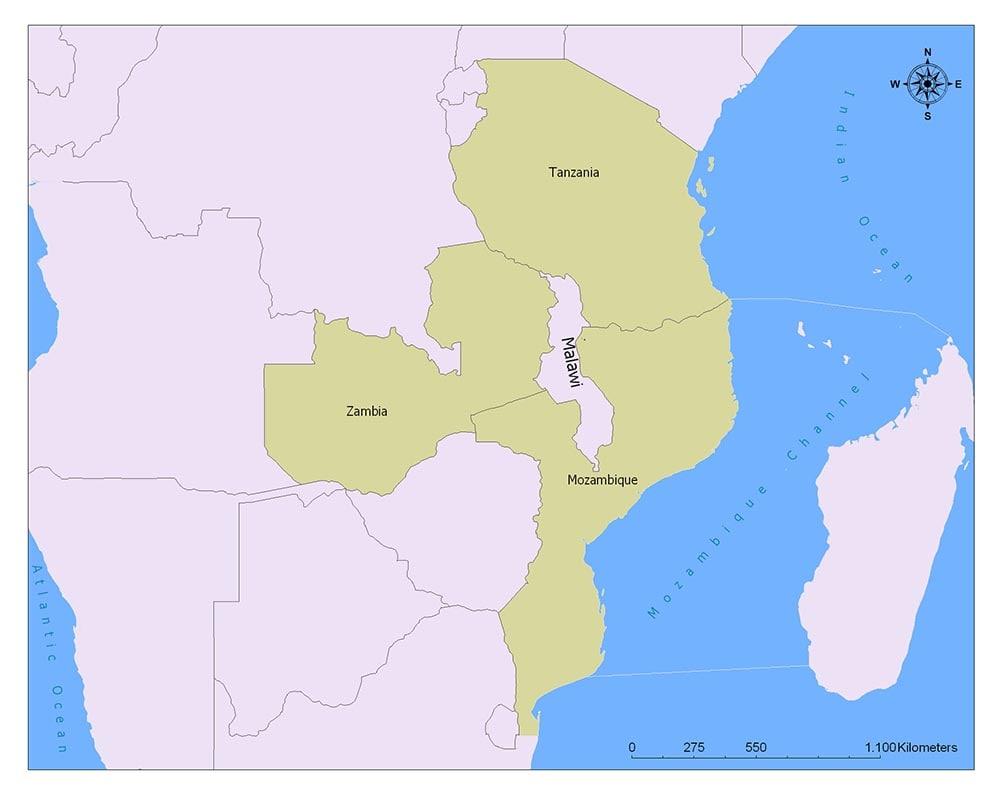 Neighboring Countries of Malawi