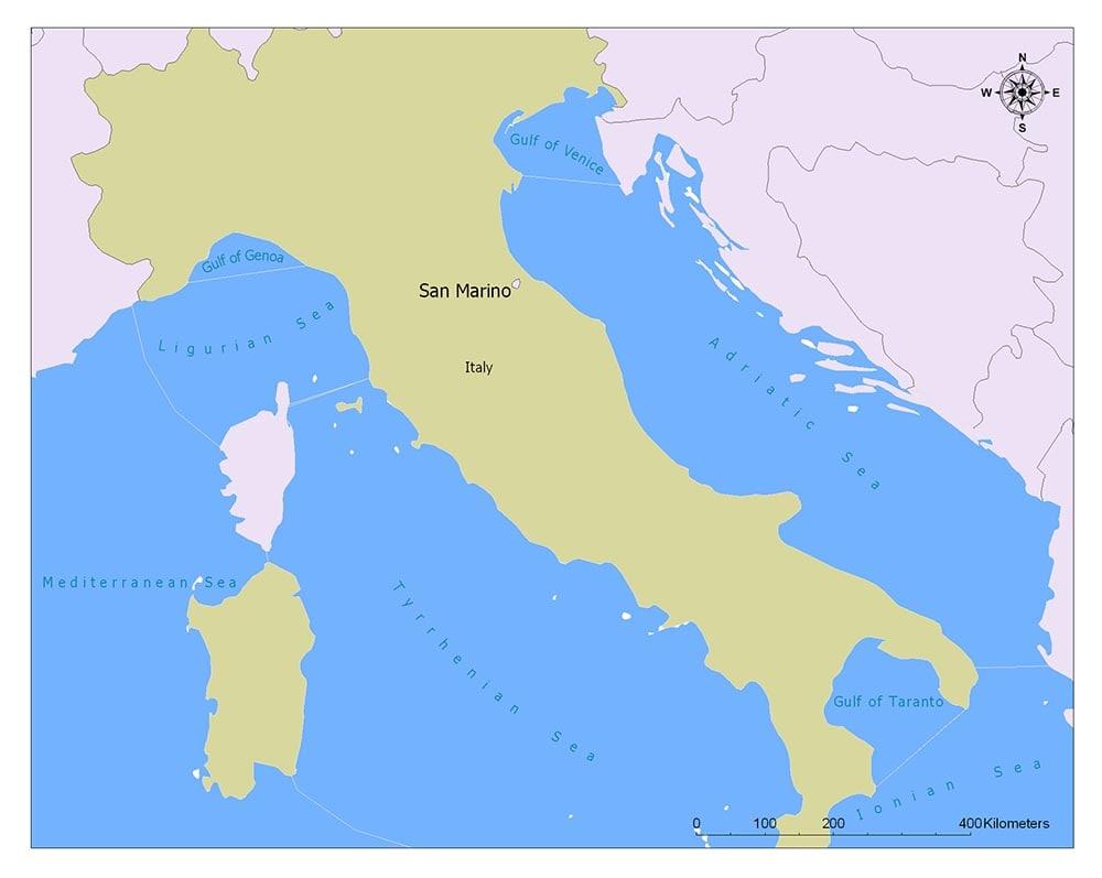 Neighboring Countries of San Marino