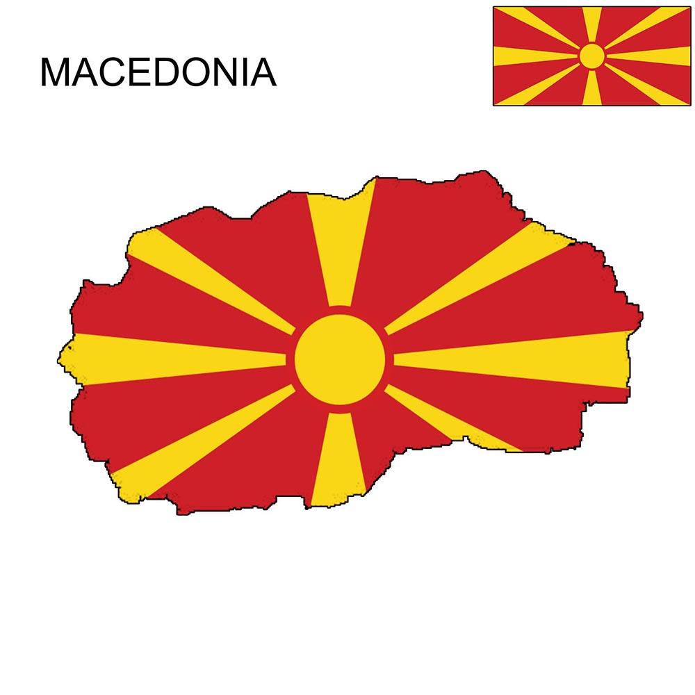 Macedonia Flag Map