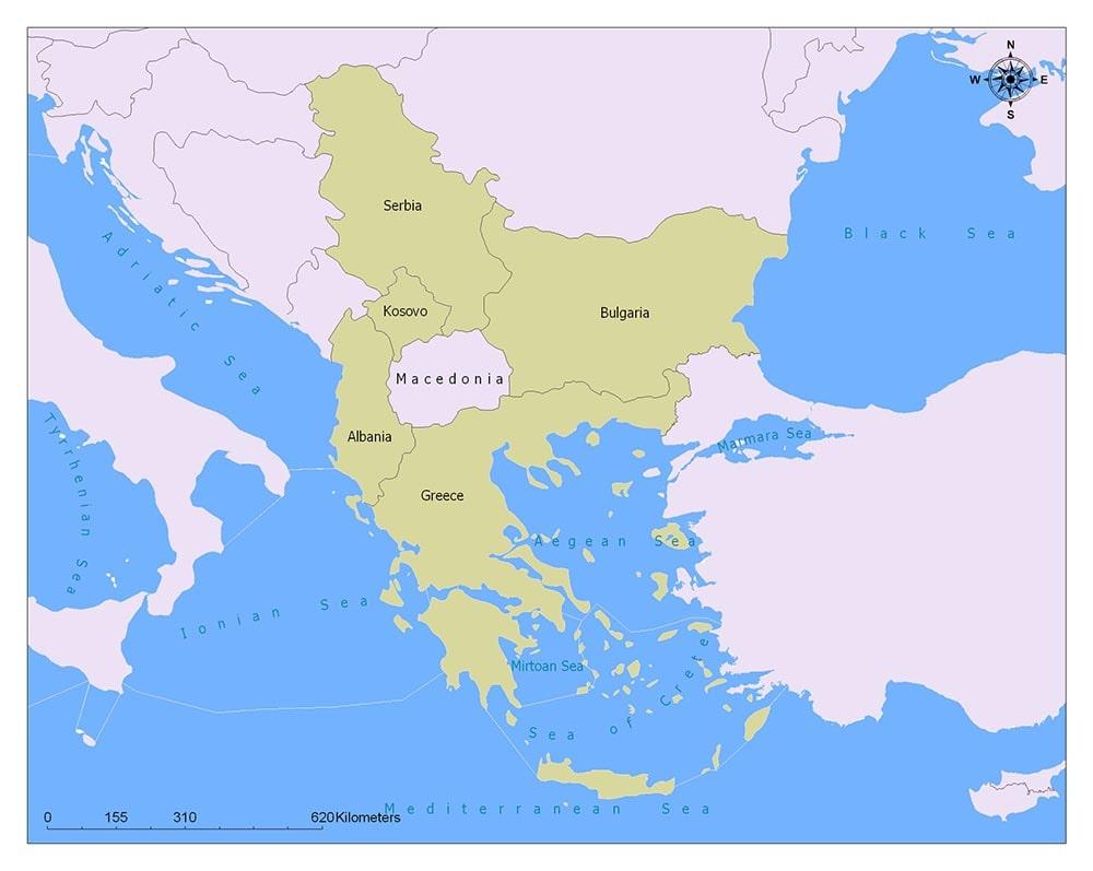Neighboring Countries ofMacedonia