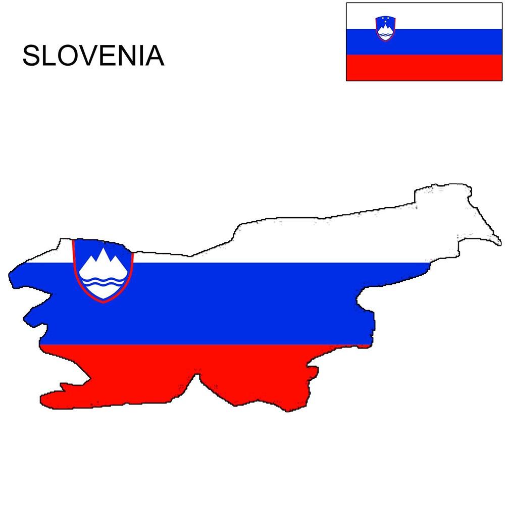 Slovenia Flag Map