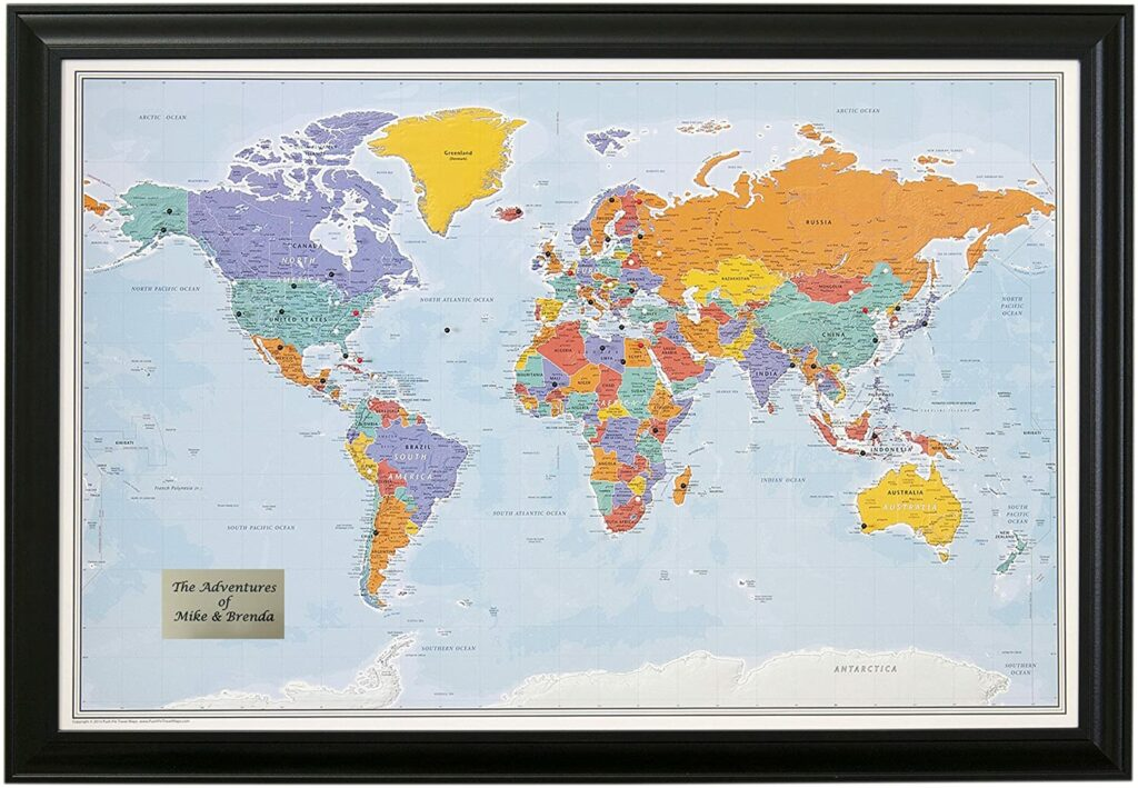 Best Push Pin World Map in 2021 2